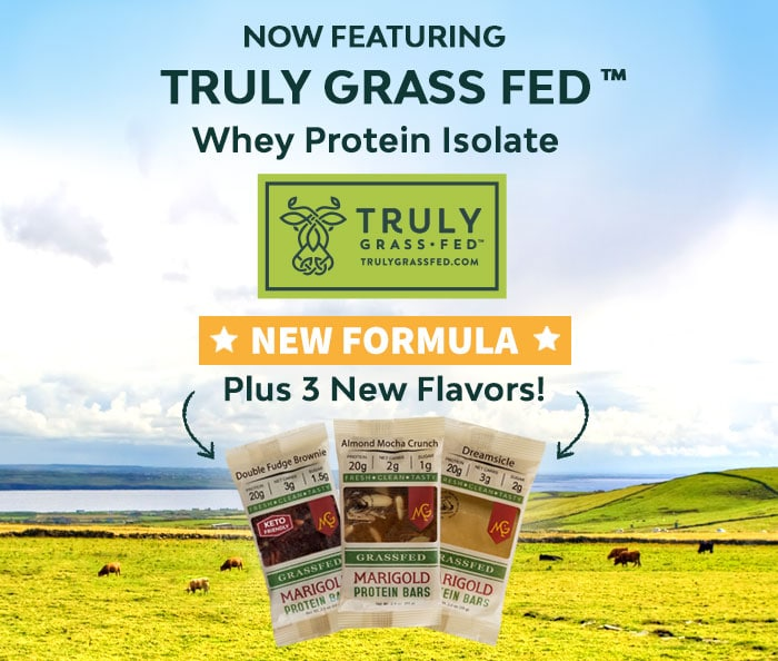 MariGold Bars Now Featuring Truly Grass Fed Whey Protein Isolate and 3 New Flavors
