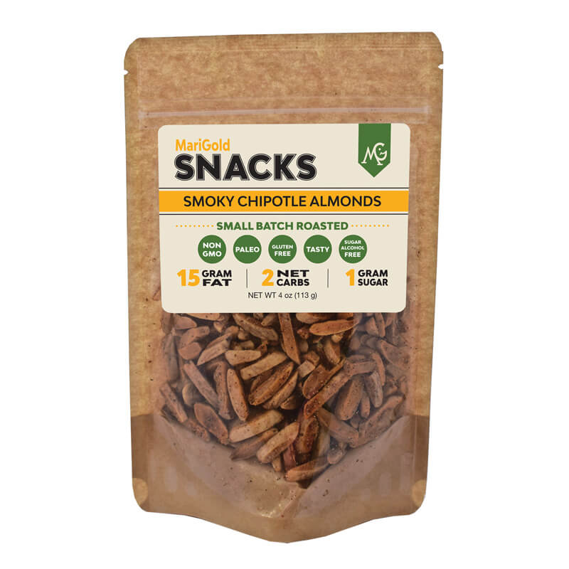 Smoky Chipotle Almonds MariGold Bars Snack Nuts